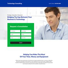 business consultation responsive landing page design