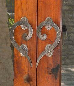 Heart | Door handles, Doors and Blacksmithing