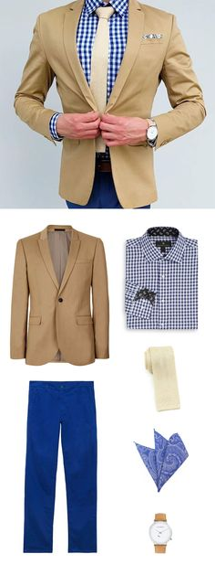 Get The Look: Golden Cream Knit Tie + Mens Gingham Check Shirt