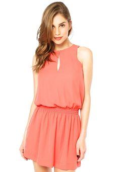 Vestido Anna Flynn Basic Coral - Compre Agora   Dafiti Brasil