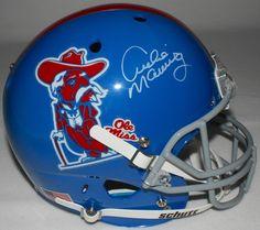 6b12c3fa67a88 Archie Manning Signed Ole Miss Throwback Full Size Helmet (Radtke COA)