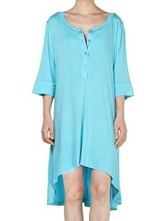 Mordenmiss Women's New Half Sleeve High Low Loose Tunic Tops at Amazon Women's Clothing store:
