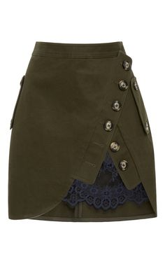 Lace-Paneled Mini Skirt by SELF PORTRAIT Now Available on Moda Operandi
