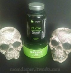 Part of my morning ritual. Greens to help give me the natural energy and the It's Vital to help lose weight! Momdraper.itworks.com