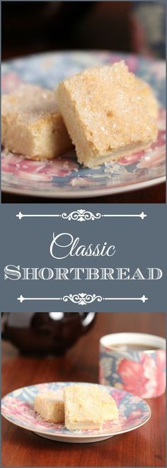 Classic shortbread recipe that is so rich, buttery and melts in your mouth. Great addition to your afternoon tea, as a holiday cookie (using colored sugar) or a quick and easy everyday cookie.