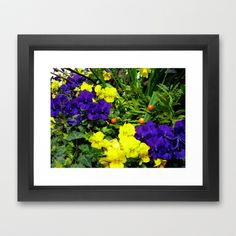 looking at the flowers. Framed Art Print by seb mcnulty - $32.00