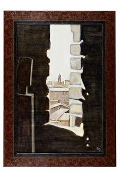 Siena   vom Turm aus  oelbild