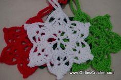 6 Point Star Ornament - free crochet pattern