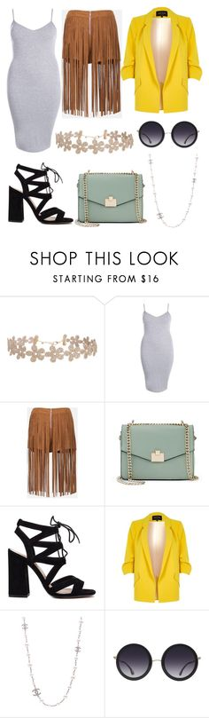 """""""Untitled #1558"""" by filipaloves ❤ liked on Polyvore featuring Humble Chic, Boohoo, Sans Souci, Jennifer Lopez, River Island, Chanel and Alice + Olivia"""