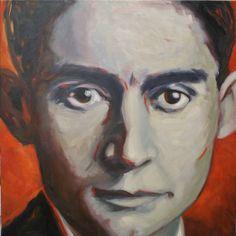 Franz Kafka, 2012, huile sur toile, 60x60cm  Anne Collet-Toty 2013
