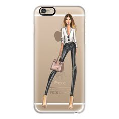 Leather and Grace (Transparent) - iPhone 6s Case,iPhone 6 Case,iPhone... (€35) ❤ liked on Polyvore featuring accessories, tech accessories, iphone case, clear iphone cases, apple iphone leather case, apple iphone cases, iphone cover case and iphone cases