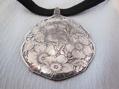 Dogwood  Antique Sterling Silver Spoon by WoodsEdgeJewelry on Etsy