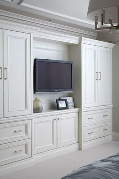 Image result for built in media and closets bedroom