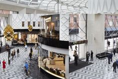 Completed in 2016 in Leeds, United Kingdom. Images by Jack Hobhouse. The brief for the Victoria Gate masterplan was to design a new, vibrant, key urban block in Leeds city centre which provided retail and leisure uses. Mall Design, Kiosk Design, Retail Design, Retail Architecture, Contemporary Architecture, Furniture Market, Design Furniture, Wooden Furniture, Visual Merchandising