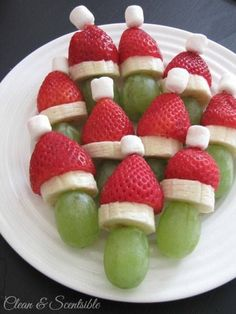Yummy Santa looking snack for brunch or kiddie holiday fun