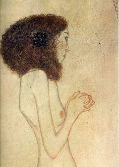 Gustav Klimt (1862-1918) Gustav Klimt, Classic Artwork, Classic Paintings, Vintage Artwork, Art Nouveau, Life Drawing, Figure Drawing, Sculpture, Artist Art
