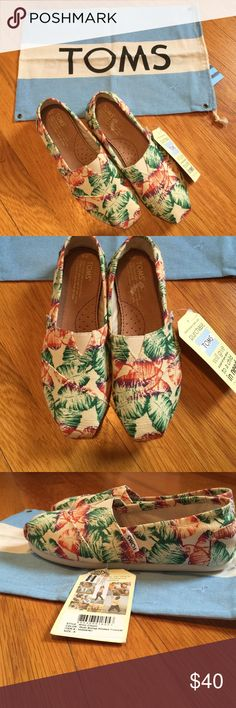 Brand new Toms size 6 Brand new Toms size 6 super cute tags still on includes toms shoe dust bag. TOMS Shoes