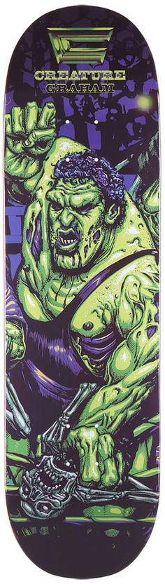Street Skate Kings: Creature Skateboards WWE/WWF Wrestling Zombies Skateboard Decks - Out Now!
