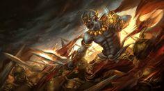 Hanuman's Wrath, Chattarin Sirisak on ArtStation at https://www.artstation.com/artwork/0lWbe