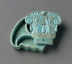Cosmetic box in the shape of a composite capital, made in Egypt, 664-300 BC (source).