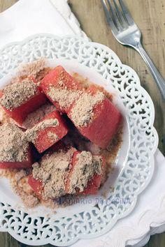 Mi Diario de Cocina | Watermelon with toasted flour | http://www.midiariodecocina.com/en/