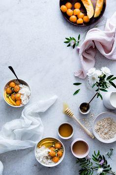 Cantaloupe coconut chia porridge