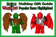 Holiday Gift Guide From A-Z: P is for Popular Items Highlighted.  Don't know what to get?   Here are our most popular custom Lego accessories this holiday season: •Spartan Helmet •Spartan Sword •Gladius •Vambraces •Demon Armor •Dragon Wings •Bird Wings (great for angel wings ing manger scenes!) •Viking Longsword •Plague Doctor Coat •Head Wrap •Rogue Hood •Deathin the Box (great for scenes with presents under a tree!) #lego #Minifigure #brickwarriors #holidaygiftguide #presents #Christmas