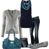 Perfect fall outfit teal!