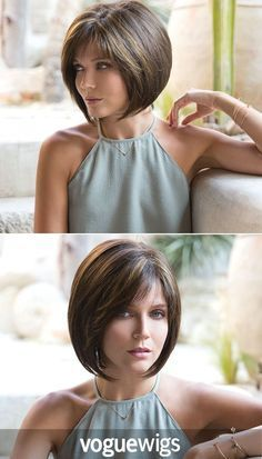 Take this photo to your stylist for a chic chin-length modern bob that is perfectly layered with texture and volume. Or just buy the wig.