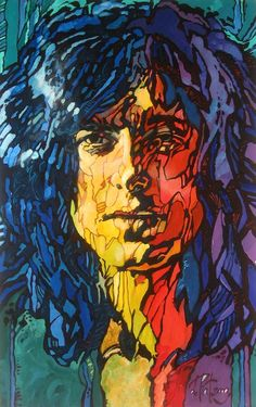Artwork of Jimmy Page by Alexander Vygalov