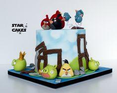 Tarta Angry Birds  Síguenos en https://www.facebook.com/starcakes.es