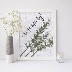Rosemary Kitchen Herb Wall Art Digital Print