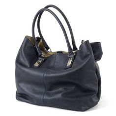 BACARIN - BLU - Working-shopping bag, dotata di due maniglie,realizzata in pelle di vitello. Colore: blu. (400,00 € tasse incl.)