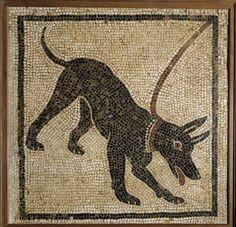 mosaic: Roman dog mosaic