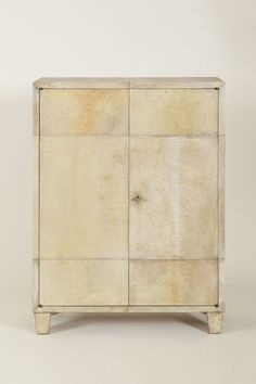 Jean-Michel Frank (Paris 1895-1941 New York), Cabinet, circa 1930. Material? covered with parchment. Stamped and numbered. Photo courtesy L'Arc en Seine