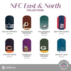 Just as the first week of NFL play wraps up, the NFL Collection by Jamberry is available for purchase! With a wrap for every team, your customers can show off their favorite wrap just in time for football season.
