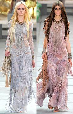 Cavalli fringe dresses