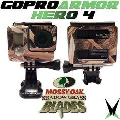 GoPro Hero 4 - Mossy Oak Camo skin Armor in Shadow Grass Blades!
