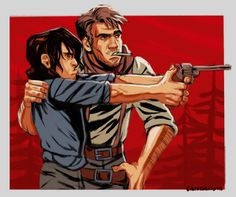 Arthur Morgan and John Marston Red Dead Redemption 1, John Marston, Red Right Hand, Read Dead, Rdr 2, Film Inspiration, Funny Games, Video Games, Character Design