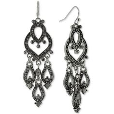 Le Vieux Marcasite & Crystal Silver-Plated Chandelier Earrings ...