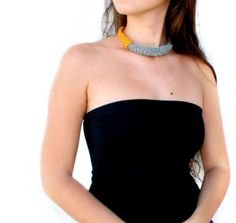 Statement necklace Tube necklace Choker necklaceChic by AmorArt