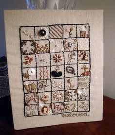 Finished I'm Stitching Along Sampler by ldh., via Flickr