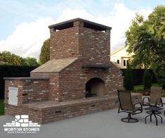 Latest Cost-Free chicago Brick Fireplace Style Your outdoor garden can look amazing with this large brick outdoor fireplace! Visit our website for Build Outdoor Fireplace, Outside Fireplace, Backyard Fireplace, Outdoor Fireplaces, Stone Veneer Fireplace, Brick Fireplace Makeover, Fireplace Remodel, Fireplace Pictures, Backyard Layout