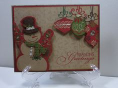 Vintage Snowman Christmas Card by TheCraftieOne on Etsy, $5.50