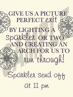 #NEW! #Wedding Sparkler Send Off Sign by WeddingsByJamie on Etsy