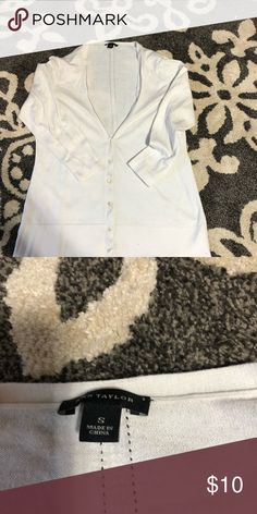 Ann Taylor cardigan size small Small white cardigan. Great condition. No stains or flaws LOFT Tops Tunics