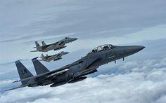 Herunterladen hintergrundbild mcdonnell douglas f-15e strike eagle, american fighter, military aviation, f-15c eagle