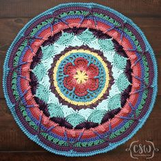 Sophie's Universe - Parts 1-3 - how to choose yarn colors for this crochet blanket cal on Colorful Christine