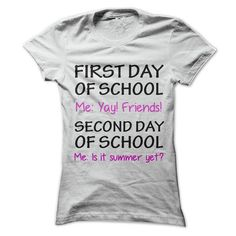 FIRST DAY IN SCHOOL VS SECOND DAY IN SCHOOL! T-SHIRTS, HOODIES, SWEATSHIRT (19$ ==► Shopping Now)