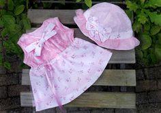 Baby Jurk en Hoed So Pinkbaby jurk roze-baby hoed door TheBabyRose